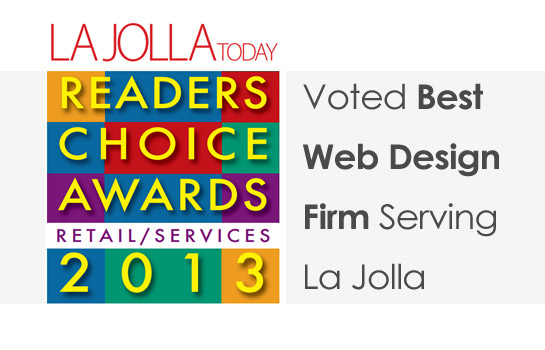 La Jolla Readers Choice Award Best Web Design