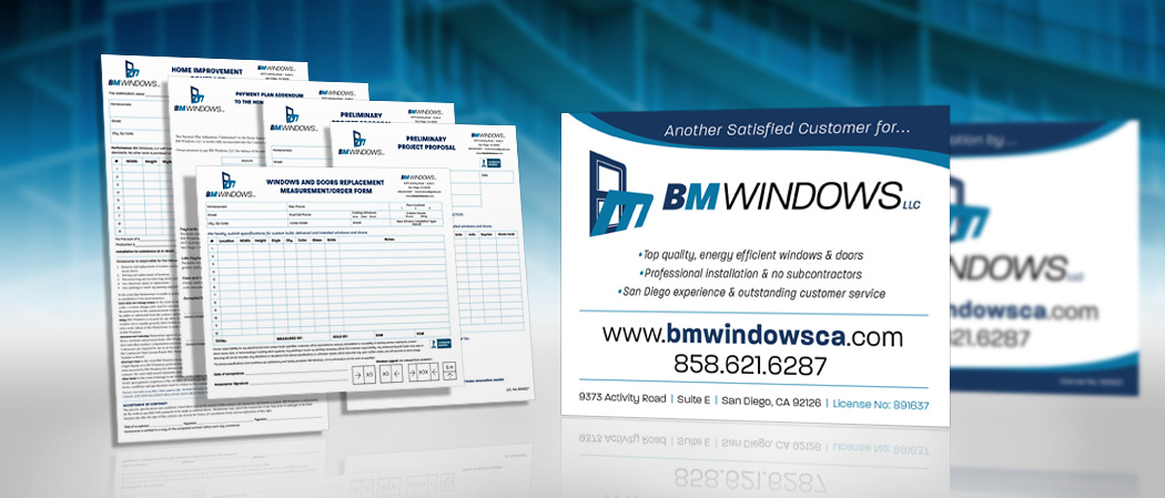 BM Windows Branded Print Materials