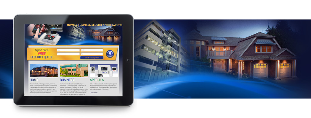 Five Alarm iPad Web Design