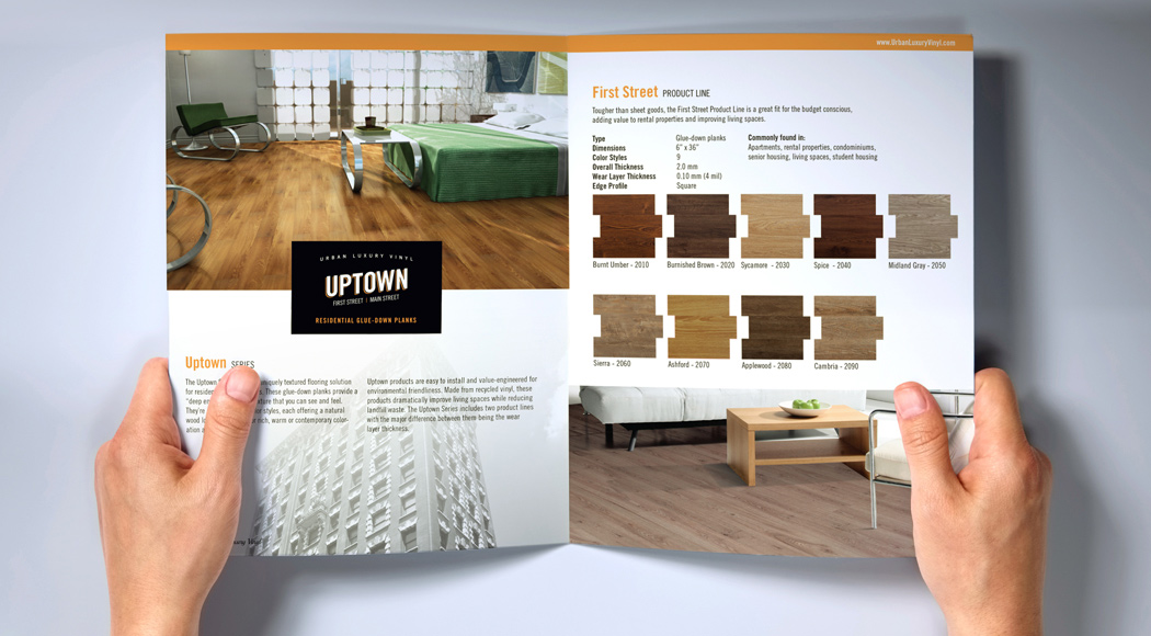 Urban Luxury Vinyl Product Catalog Design