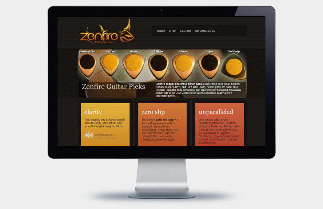 Zenfire Picks Web Design